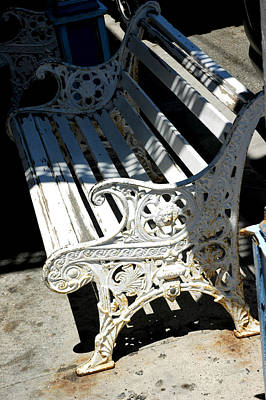 Old Cast Iron Bench Virginia City Nevada Poster