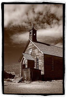 Old Church In Bodie California Poster by Steve Gadomski