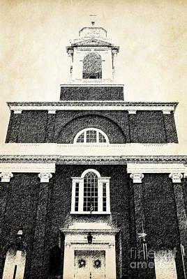 Old Church In Boston Poster by Elena Elisseeva
