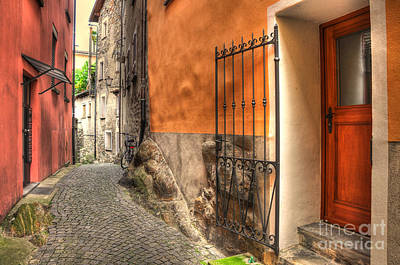 Old Colorful Rustic Alley Poster