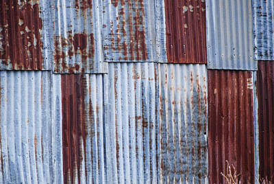 Old Corrugated Iron Poster