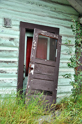 Old Door On Rustic Alaska Cabin Poster by Gary Whitton