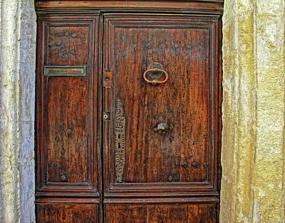 Poster featuring the photograph Old Door Study Provence France by Dave Mills