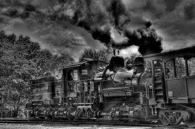 Old Engine Poster by Todd Hostetter