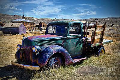 Old Ford V8 Truck Poster