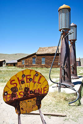 Poster featuring the photograph Old Gas Pumps by Shane Kelly