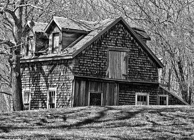 Poster featuring the photograph Old House In Adamsville Ri by Nancy De Flon