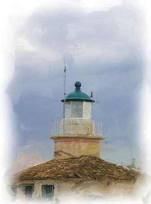 old lighthouse in Corfu Poster