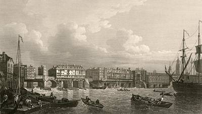 Old London Bridge, 1745 Poster by Miriam And Ira D. Wallach Division Of Art, Prints And Photographsnew York Public Library