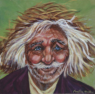 Poster featuring the painting Old Man by Pauline  Kretler