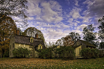 Old Manse In Autumn Glory Poster