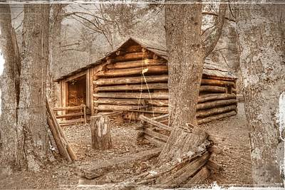 Old Mill Work Cabin Poster by Dan Stone
