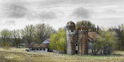 Old Minnesota Farmstead Poster