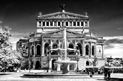 Old Opera Frankfurt Poster by Joachim G Pinkawa