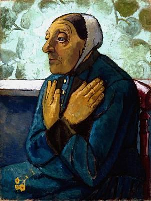 Old Peasant Woman Poster by Paula Modersohn-Becker