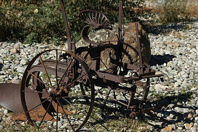 Old Plow 2 Poster by Ernie Echols