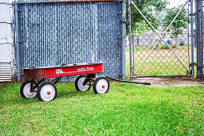 Poster featuring the photograph Old Radio Flyer Wagon by Ester  Rogers