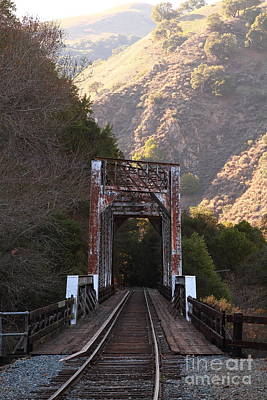 Old Railroad Bridge At Near Historic Niles District In California . 7d10745 Poster