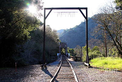 Old Railroad Bridge At Near Historic Niles District In California . 7d12747 Poster