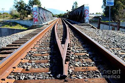 Old Railroad Bridge In Fremont California Near Historic Niles District In California . 7d12678 Poster
