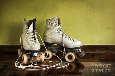 Old Roller-skates Poster by Carlos Caetano
