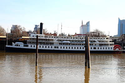 Old Sacramento California . Delta King Hotel . Paddle Wheel Steam Boat . 7d11434 Poster