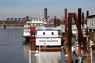 Old Sacramento California . Empress Hornblower . Delta King Hotel . Paddle Wheel Steam Boat . 7d1153 Poster
