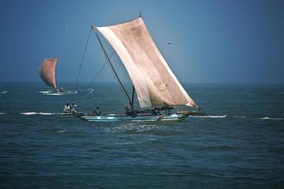 Old Sail Boat Poster by Dumindu Shanaka