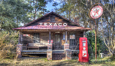 Old Texaco Service Station Poster by Dustin K Ryan
