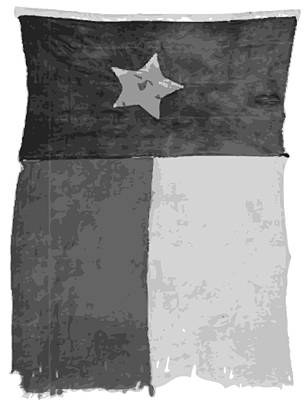 Old Texas Flag Bw10 Poster