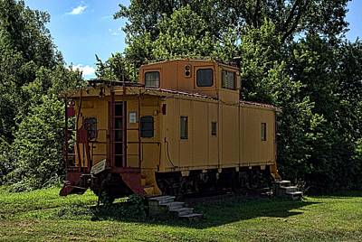Old Time Caboose Poster by Tim McCullough