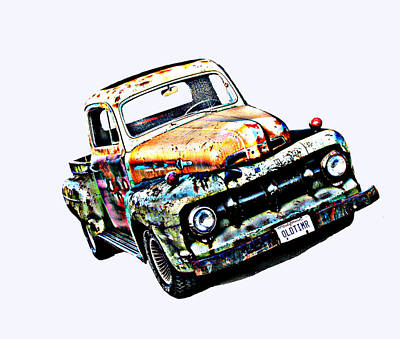 Old Timer 1952 Ford Pickup Truck Poster by Samuel Sheats
