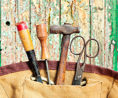 Old Tools Poster by Tom Gowanlock