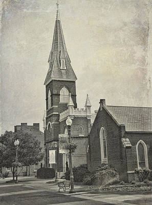 Poster featuring the photograph Old Town Church by Kathleen Holley
