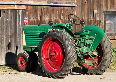 Old Tractor Older Barn Poster