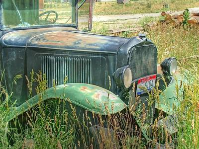 Old Truck In The Field Poster
