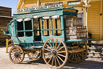 Old Tucson Stage Coach Poster by Wendy White