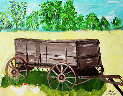 Old Wagon Poster by Swabby Soileau