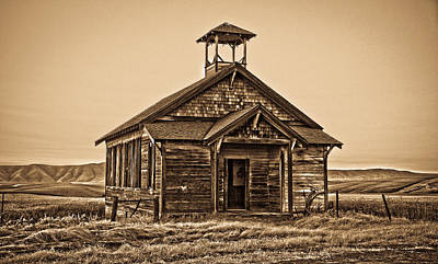 Old West School House Poster