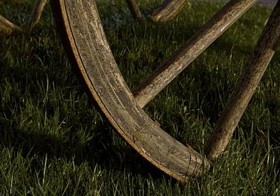 Old Wheel Poster by Odd Jeppesen