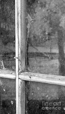 Old Window Reflection Poster by Sandra Bronstein