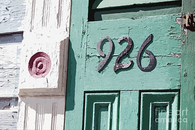 Old Worn Wooden Door And Numbers French Quarter New Orleans Cutout Digital Art Poster