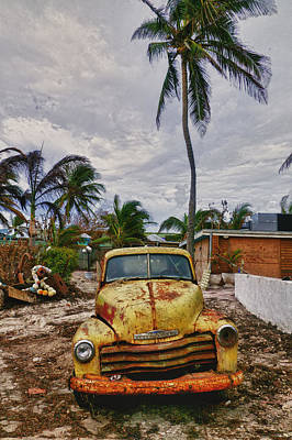 Old Yellow Truck Florida Poster by Garry Gay