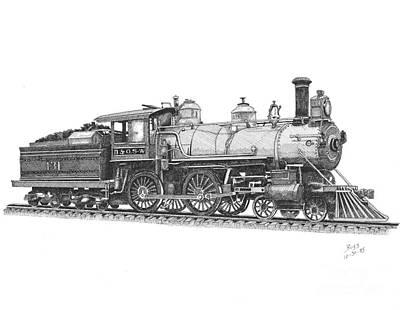 Older Steam Locomotive Poster by Calvert Koerber
