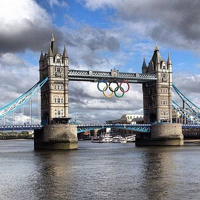 Olympic Rings On Tower Bridge #london Poster