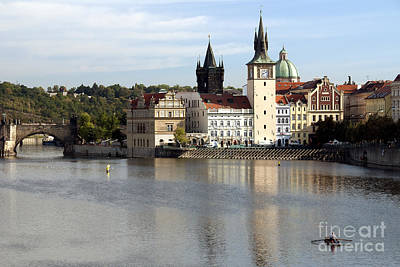 On The Banks Of Vltava River Poster