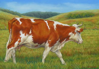 Poster featuring the pastel On The Moove by Margaret Stockdale