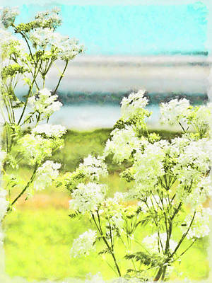 Poster featuring the digital art On The Mudflats Of Pegwell Bay by Steve Taylor