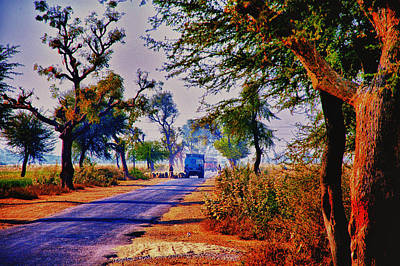 Poster featuring the photograph On The Road To Jaipur by Rick Bragan