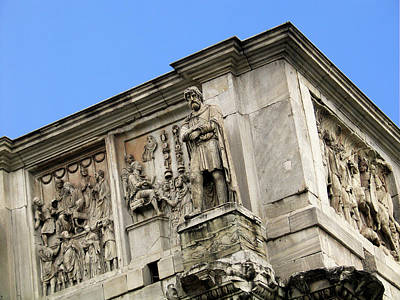 On Top Of The Arch Of Constantine Poster